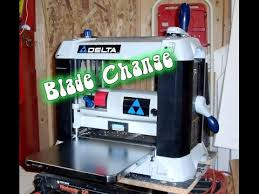 delta 22 580 surface planer blade change youtube