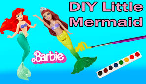 diy mermaid barbie mini doll the pearl princess custom craft