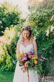 Outdoor Wedding Dresses Colourful Outdoor Wedding At Shillingstone House Dorset