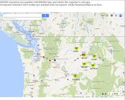 Pullman Washington Map by Kamiak Butte Amateur Repeater Assn