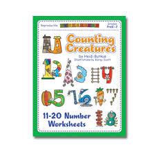counting creatures 11 20 number workbook heidisongs u2013 heidi songs