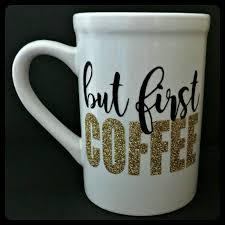 i run on coffee and cuss words glitter dipped coffee mug glitter