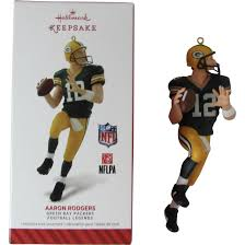 hallmark keepsake aaron rodgers green bay packers football legends