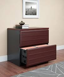 amazon com altra pursuit lateral file cabinet cherry gray