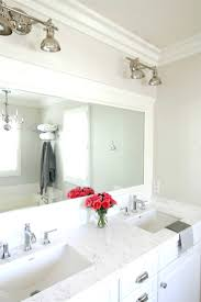 Framed Bathroom Mirror White Frame Mirror Img9920 Brushed Silver Framed 36 46 In Stuning