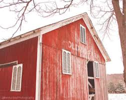 Red Shed Home Decor Red Barn Photography Old Farm Country Decor Rustic Wall