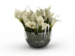 white calla white calla flower arrangement 3d model 3ds max files free