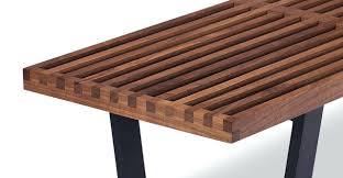 Slat Bench Coffee Table Mid Century Modern Wood Slat Bench Black Slat Wood Bench 2045 6