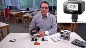sony hvl le1 handycam camcorder light sony hvl le1 videoleuchte für camcorder im test youtube