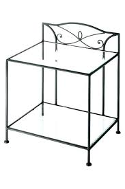 Wrought Iron Patio Side Table Small Wrought Iron Outdoor Side Table Vintage Patio Coffee Legs