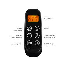 nice electric fireplace remote control replacement part 10