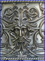 Fireplace Grate Cast Iron by Iron Figural Architectural Window Or Fireplace Grate North Wind Face
