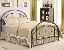 curved bed frame iron beds and headboards metal curved bed coaster 300407