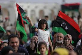Lybian Flag Libyan Commander Stages Military Parade On Benghazi Campaign