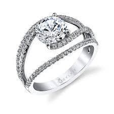swirl engagement rings celia unique split shank swirl engagement ring s1194 sylvie