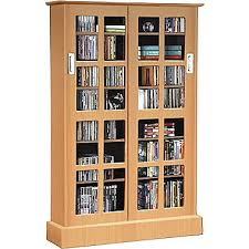 Glass Door Storage Cabinet Atlantic Windowpanes Media Storage Cabinet With Sliding Glass