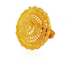 big gold rings images 22k gold filigree bridal ring ajri59917 22k gold fancy ring JPG