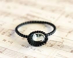black ring black ring etsy