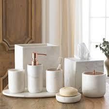 Porcelain Bathroom Accessories by Amazon Com Cotton Jar Kassatex Pietra Marble Bath Accessories