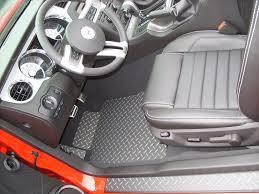 2010 Black Mustang Mustang 05 14 Black Aluminum Floor Mats With Exposed Metal