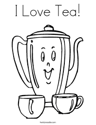 i love tea coloring page twisty noodle