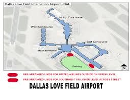 Dallas Airport Map by Airport Transportation