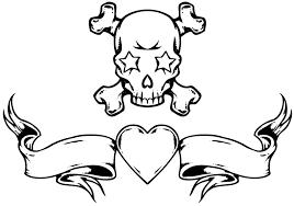 grey ink skull design
