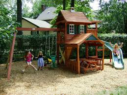 Best  Outdoor Playset Ideas On Pinterest Kids Outdoor Playhouses - Backyard playground designs