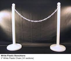 stanchion rental white plastic stanchions town country event rentals