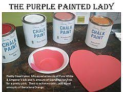 coral color recipe using chalk paint u003d mix equal amounts of pure