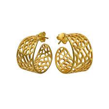 golden earrings taniha silver jewellery contemporary golden earrings