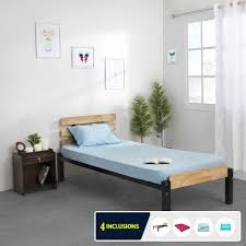 bruin single bed with mattress on rent