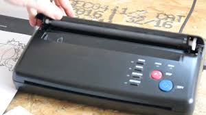 tattoo thermal printer reviews how to use a thermal printer for tattoo stencil youtube