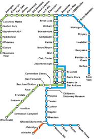 san jose light rail map vta light rail transit wiki