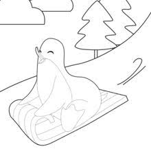 penguin coloring pages free games kids crafts