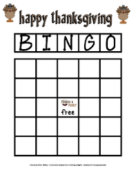 thanksgiving bingo board by elementary lesson plans tpt