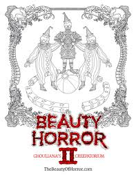 this horror coloring book is equally creepy and relaxing