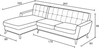 dimensions canapé canapé d angle en tissu stockolm dossier capitonné mobilier moss