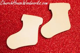 Wooden Christmas Ornaments To Make Rustic 4 Weddings Wooden Stocking Ornaments Christmas Wood