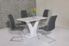 white high gloss table wow slim high gloss white 120 cm dining table buy online today