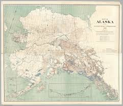 Nome Alaska Map by History Of Alaska Travel Map Shows Ways To Get Around State In 1909