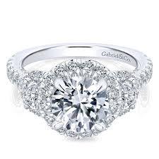 halo rings images 18k white gold diamond 3 stones halo 18k white gold engagement jpg