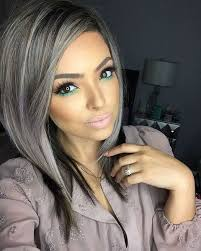 beautiful gray hair streaks straight silver strands 21st gray and silver highlights