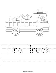 fire truck worksheet twisty noodle