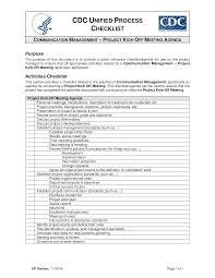 free project kick off meeting agenda checklist templates at