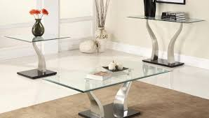 table 3 piece glass coffee table set illustrious 3 piece coffee