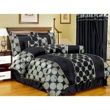 Black Comforter King Size 7 Piece 2 Cushioned King Size Luxurious Downlites