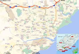 Map Of East Africa by East London Travel Guide Accommodation Tourist Information