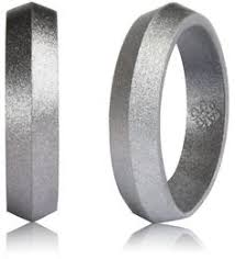 silicone wedding bands silver silicone wedding ring by knot theory 20 available in