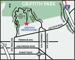 map to griffith observatory getting here